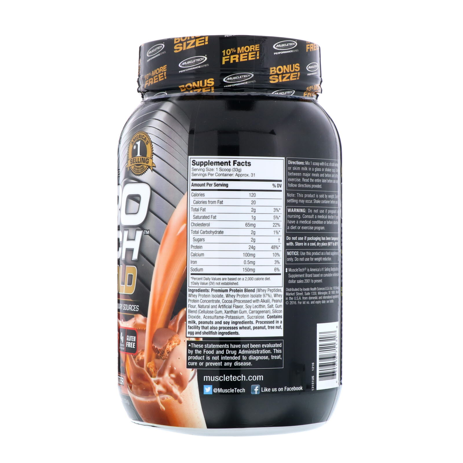 Muscletech Nitro Tech 100 Whey Gold Chocolate Peanut Butter Ultimate Nutrition Iso Mass Xtreme Gainer 10 Lbs Click To Zoom