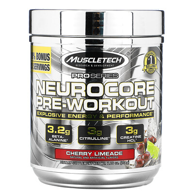 Купить Muscletech ProSeries, Neurocore, Pre-Workout, Cherry Limeade, 7.19 oz (204 g)