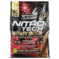 Nitro Tech, 100% Whey Gold, Whey Protein Powder, Double Rich Chocolate, 8 lbs (3.63 kg) - фото