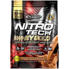 Muscletech, 正氮科技,全乳清黃金,乳清蛋白質粉,雙重濃郁巧克力,8 磅(3.63 千克)