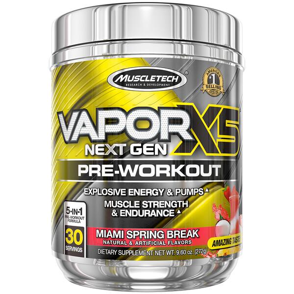 Muscletech, VaporX5, Next Gen, Pre-Workout, Hawaiian Hurricane, 9.60 oz (272 g)