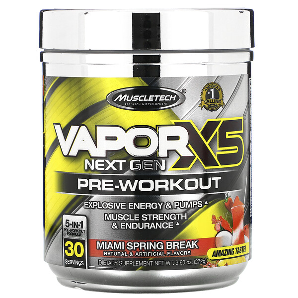 VaporX5, Next Gen, Pre-Workout, Miami Spring Break, 9.60 oz (272 g)