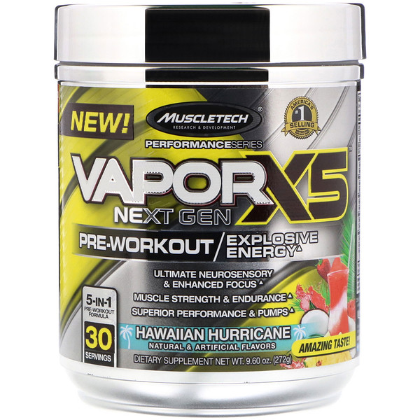 Muscletech, Vapor X5, Next Gen, Pre-Workout, Hawaiian Hurricane, 9.60 oz (272 g) (Discontinued Item)