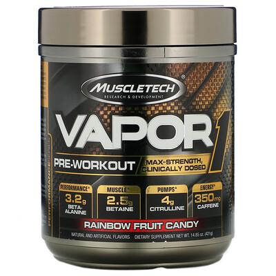 Купить Muscletech Vapor1, предтренировочный комплекс, со вкусом фруктовых конфет, 421г (14, 85унции)
