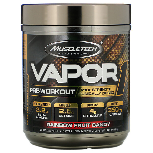 Vapor1, Pre-Workout, Rainbow Fruit Candy, 14.85 oz (421 g)
