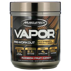 Мусклетек, Vapor1, Pre-Workout, Rainbow Fruit Candy, 14.85 oz (421 g) отзывы