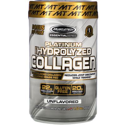 Купить Muscletech 100% гидролизованный коллаген Platinum, без вкусовых добавок, 1, 52 фунта (692 г)