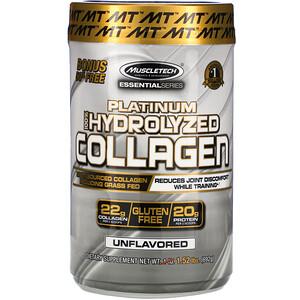 Мусклетек, Platinum 100% Hydrolyzed Collagen, Unflavored, 1.52 lbs (692 g) отзывы покупателей