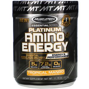 Мусклетек, Platinum Amino Plus Energy, Tropical Mango, 11.19 oz (317 g) отзывы