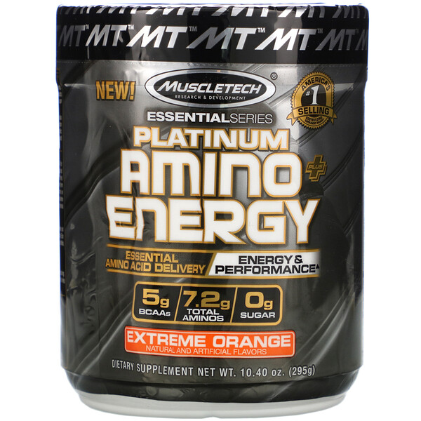 Platinum Amino Plus Energy, Extreme Orange, 10.40 oz (295 g)