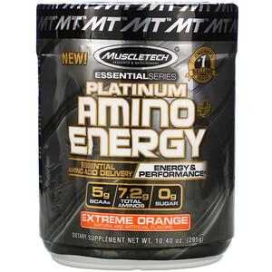Мусклетек, Platinum Amino Plus Energy, Extreme Orange, 10.40 oz (295 g) отзывы