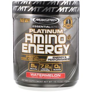 Muscletech, Platinum Amino Plus Energy, Watermelon, 10.15 oz (288 g)