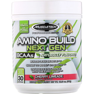 Muscletech, Amino Build Next Gen BCAAs, Cherry Limeade, 15.06 oz (427 g)