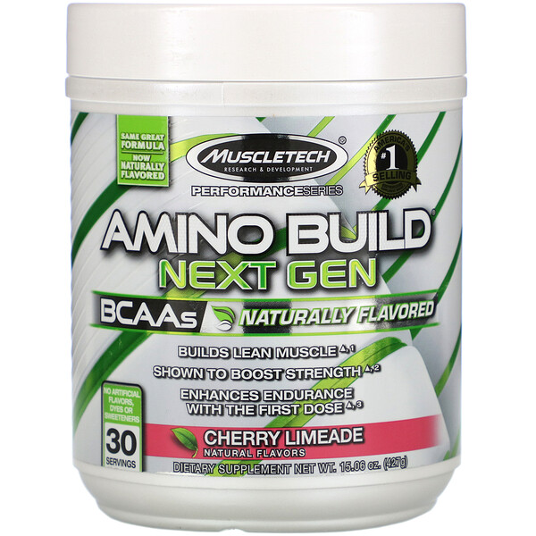 Muscletech, Amino Build Next Gen, Naturally Flavored, Cherry Limeade, 15.06 oz (427 g) (Discontinued Item)