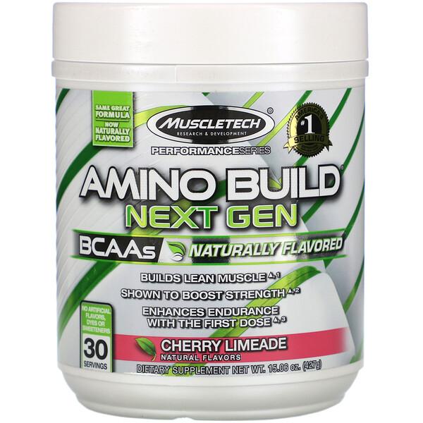 Muscletech, AminoBuild(アミノビルド)ネクストジェン、天然香料、チェリーライムエード、427g(15.06オンス) (Discontinued Item)