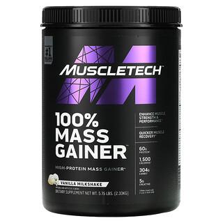 Muscletech, 100% Mass Gainer, Vanilla Milkshake, 5.15 lbs (2.33 kg)