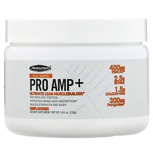 Мусклетек, Peak Series, Pro Amp+, Unflavored, 5.61 oz (159 g) отзывы