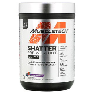 Muscletech, Shatter Pre-Workout Elite, Glacier Berry, 1.01 lbs (459 g)