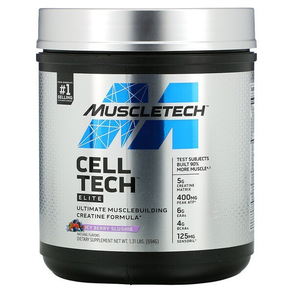 Muscletech, Cell Tech, Elite, Icy Berry Slushie, 1.31 lbs (594 g)