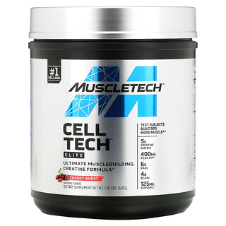Muscletech, Cell Tech, Elite, Cherry Burst,  1.3 lbs, (591 g)