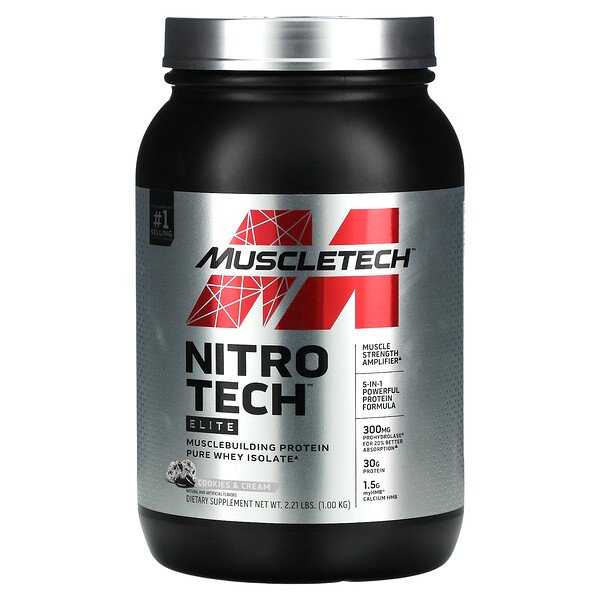 Nitro Tech Elite, Cookies & Cream, 2.21 lbs (1 kg)