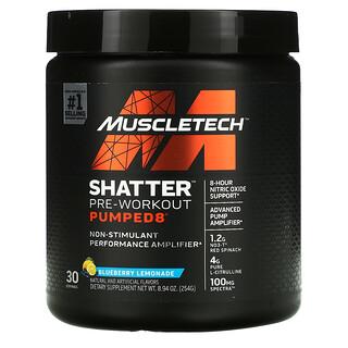 Muscletech, Shatter Pre-Workout Pumped8, Blueberry Lemonade, 8.94 oz (254 g)