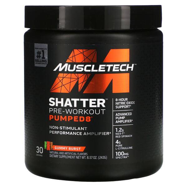 Shatter Pre-Workout Pumped8, Gummy Burst, 8.57 oz (243 g)