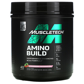 Muscletech, Amino Build, Strawberry Watermelon, 20.92 oz (593 g)