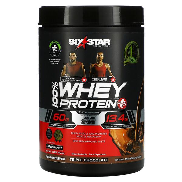Elite Series, 100% Whey Protein Plus, Triple Chocolate, 2 lbs ( 907 g)