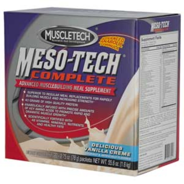 Muscletech, Meso-Tech Complete, Delicious Vanilla Creme, 20 Packets, 2.75 oz (78 g) Each (Discontinued Item)