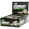 MusclePharm, कॉम्बैट क्रंच, दुगना भरवां कुकी आटा, 12 बार्, 2.22 आउंस (63 ग्राम) प्रत्येक