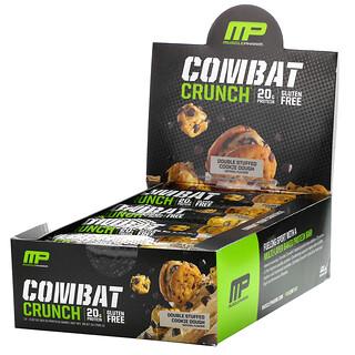 MusclePharm, Combat Crunch Protein Bars, Double Stuffed Cookie Dough, 12 Bars, 2.22 oz (63 g) Each