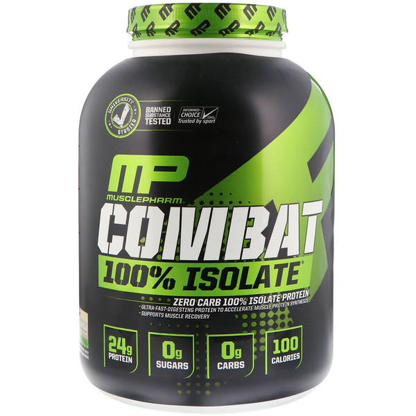 :MusclePharm, Combat 100% Isolate, Vanilla, 5 lb (2268 g)