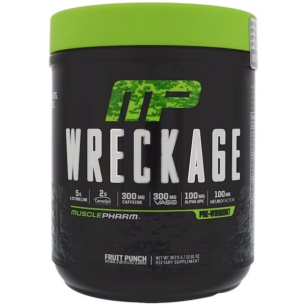 MusclePharm, Wreckage Pre-Workout, Fruit Punch, 12.61 oz (357.5 g)