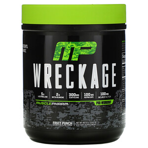 Мусклефарм, Wreckage, Pre-Workout, Fruit Punch, 12.61 oz (357.5 g) отзывы покупателей