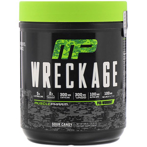 Мусклефарм, Wreckage, Pre-Workout, Sour Candy, 13.23 oz (375 g) отзывы покупателей