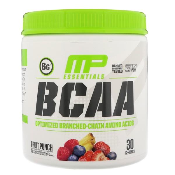 MusclePharm, BCAA Essentials,  Fruit Punch, 0.57 lbs (258 g)