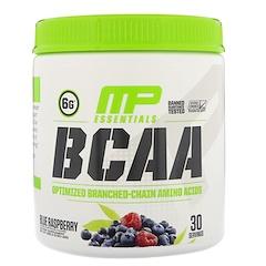 MusclePharm, BCAA Essentials, Blue Raspberry, 0.50 lbs (225 g)