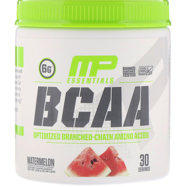 MusclePharm, BCAA Essentials, אבטיח, 216 גרם (0.48 lbs)