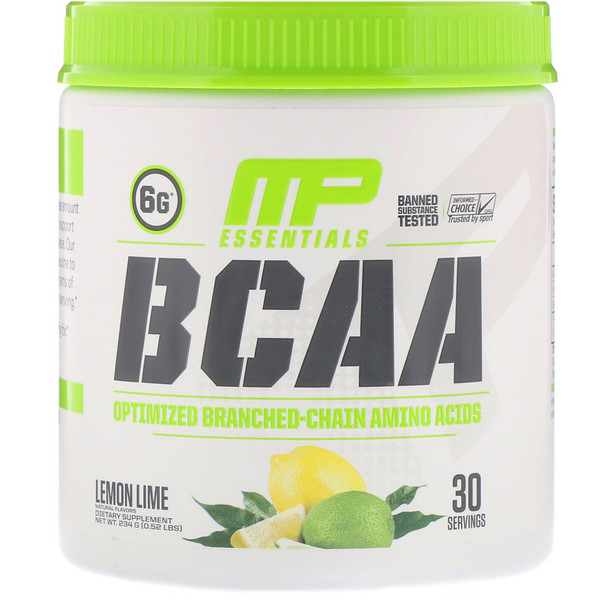 MusclePharm, BCAA Essentials, לימון ליים, 234 גרם (0.52 lbs)