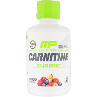 MusclePharm, Carnitine, Fat Loss Support, Fruit Punch, 1000 mg, 15.5 fl oz (458.8 ml)