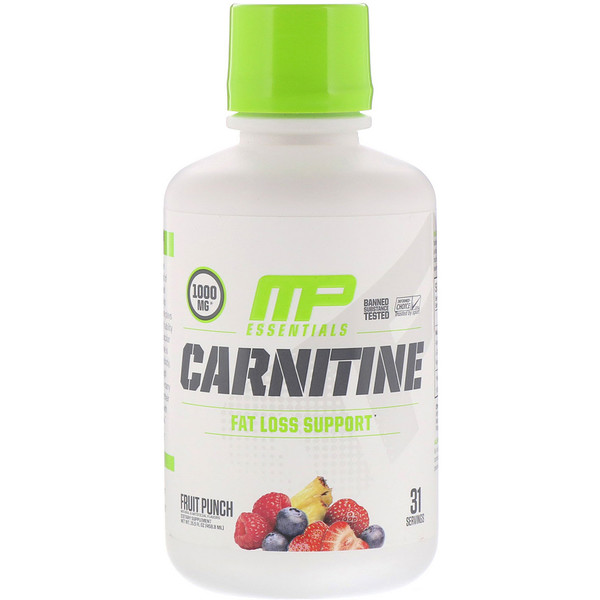 Carnitine, Fat Loss Support, Fruit Punch, 1,000 mg, 15.5 fl oz (458.8 ml)