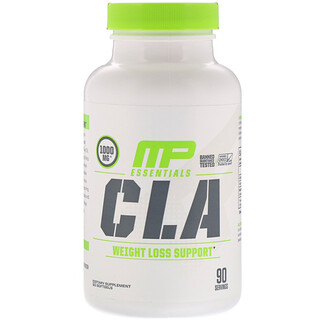 MusclePharm, Essenciais, CLA, 1000 mg, 90 Softgels