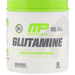 MusclePharm, Glutamina Essencial, Sem Sabor, 0,66 lb (300 g)
