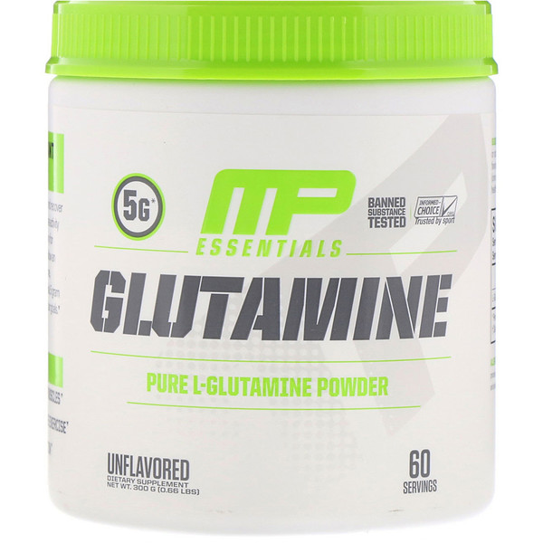 MusclePharm, Глутамин Essentials, Без ароматизаторов, 0,66 фунта (300 г)