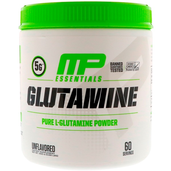 MusclePharm, Glutamine Essentials, Unflavored, 0.66 lb (300 g)