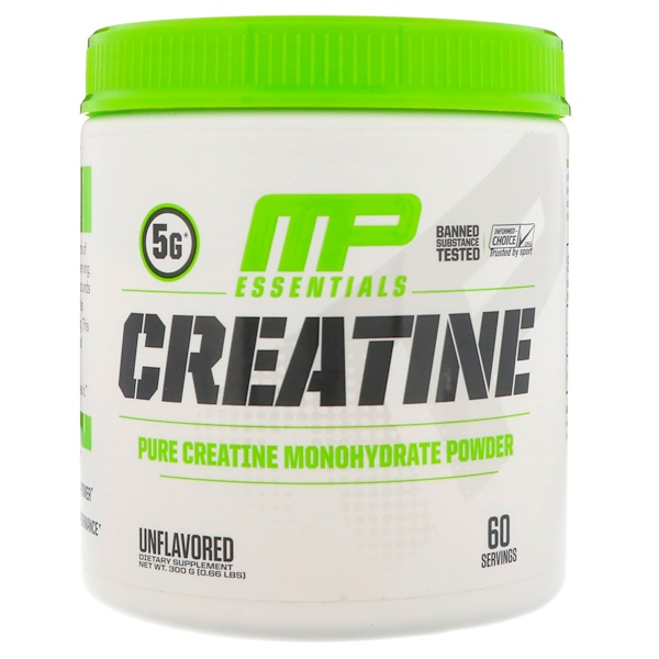 MusclePharm, Essentials, Creatine, Unflavored, 0.66 lbs (300 g)