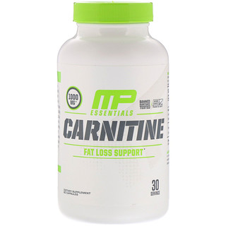 MusclePharm, Carnitine, Fat Loss Support, 1000 mg, 60 Capsules