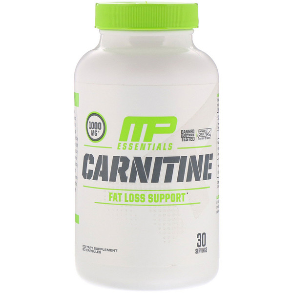 MusclePharm, Carnitine, Fat Loss Support, 1000 mg, 60 Capsule