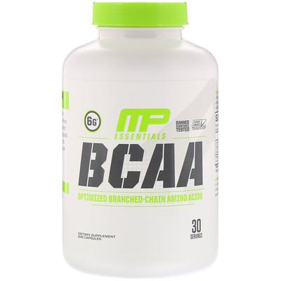 MusclePharm Essentials, BCAA (аминокислоты с разветвленной цепью), 240капсул